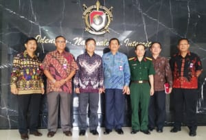 Promote cooperation with the National Defense University, Indonesia