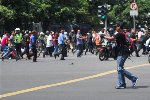 Terrorist bombings in central Jakarta, Indonesia