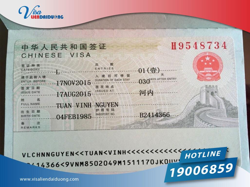 phí làm visa Trung Quốc