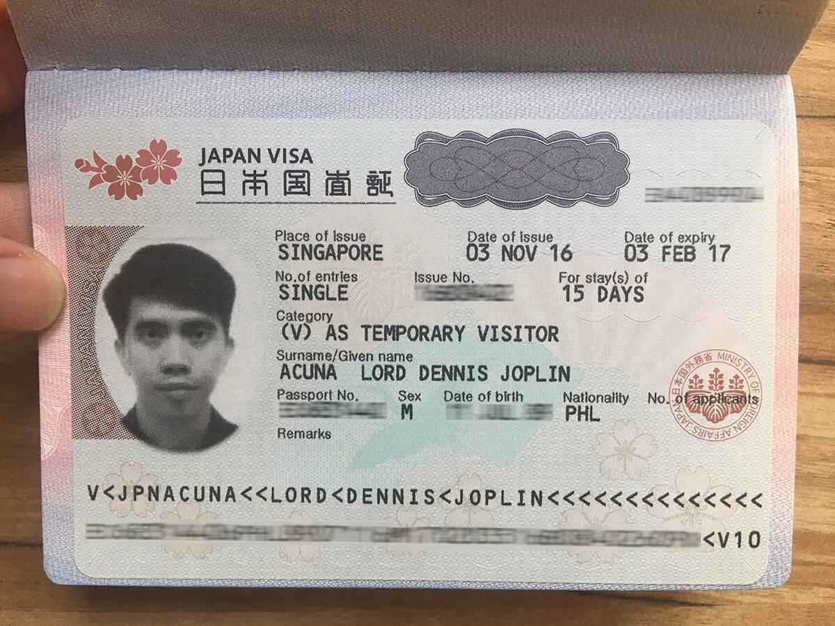 xin visa công tác Nhật Bản