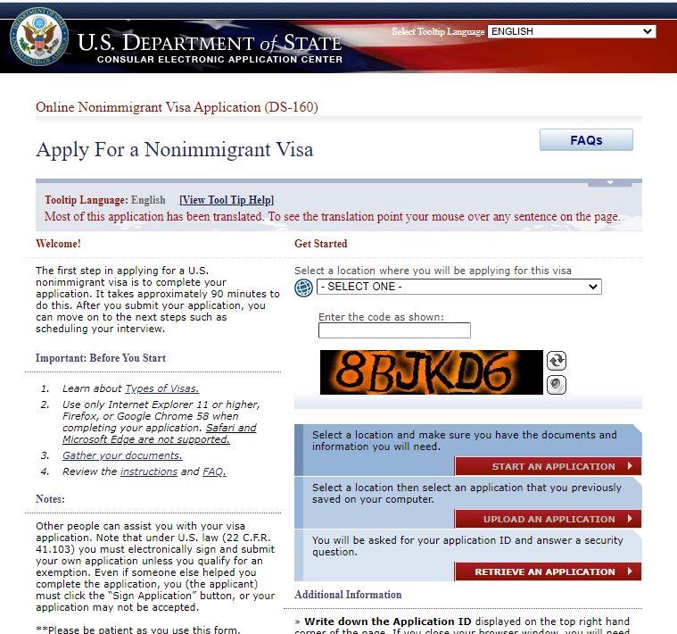 Những thắc mắc thường gặp về mẫu đơn DS-160 xin visa Mỹ